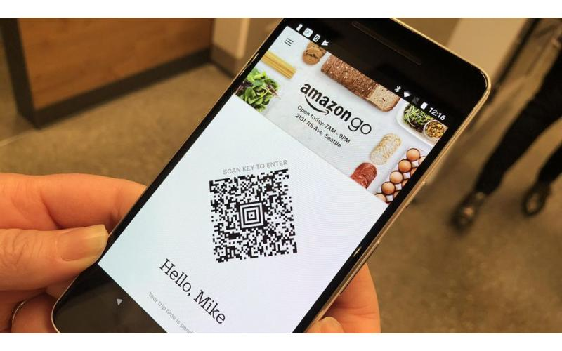 Amazon Go uses QR Code in their supermarket